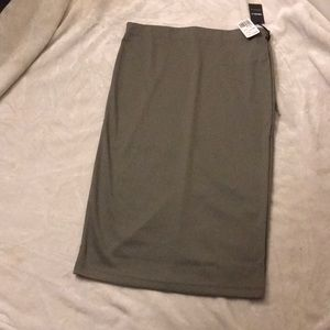 Olive green rubbed Pencil skirt